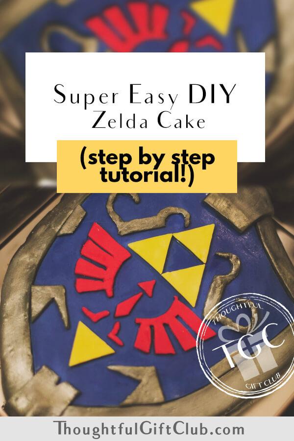 Zelda Cake Tutorial: Step by Step How to Make a Hylian Shield Cake!