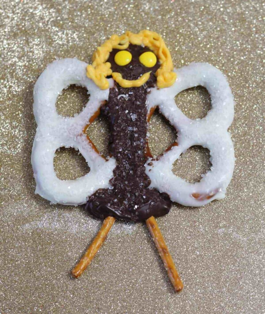 Chocolate-covered pretzel angel