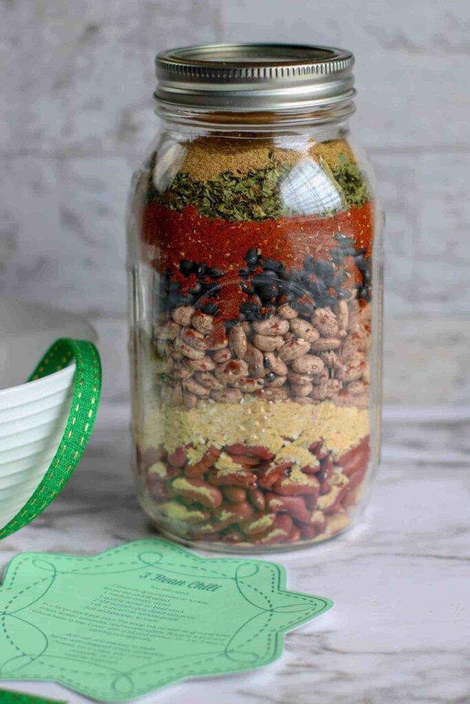 3-bean mix in jar