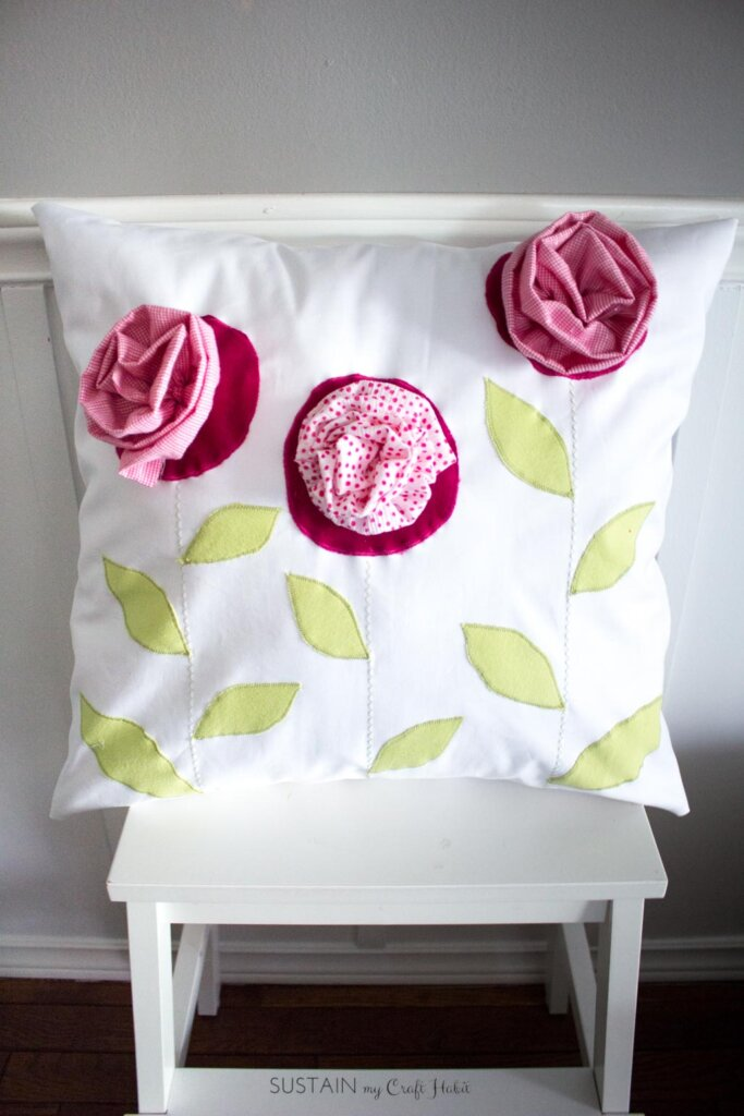 Upcycled pillow