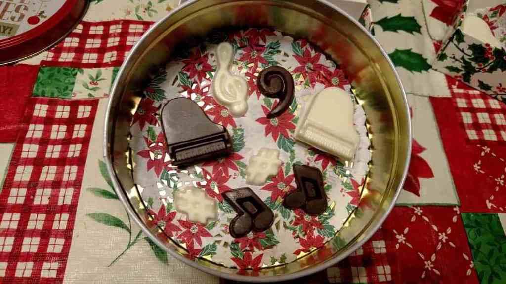 music chocolates