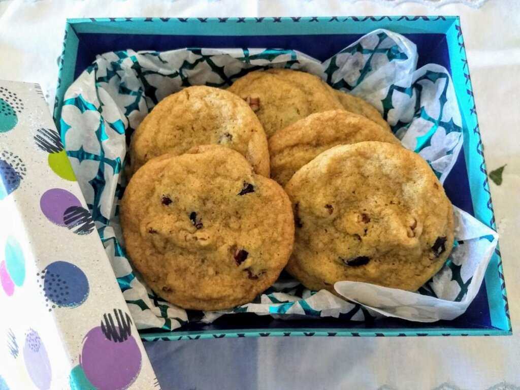 Orange cranberry cookies