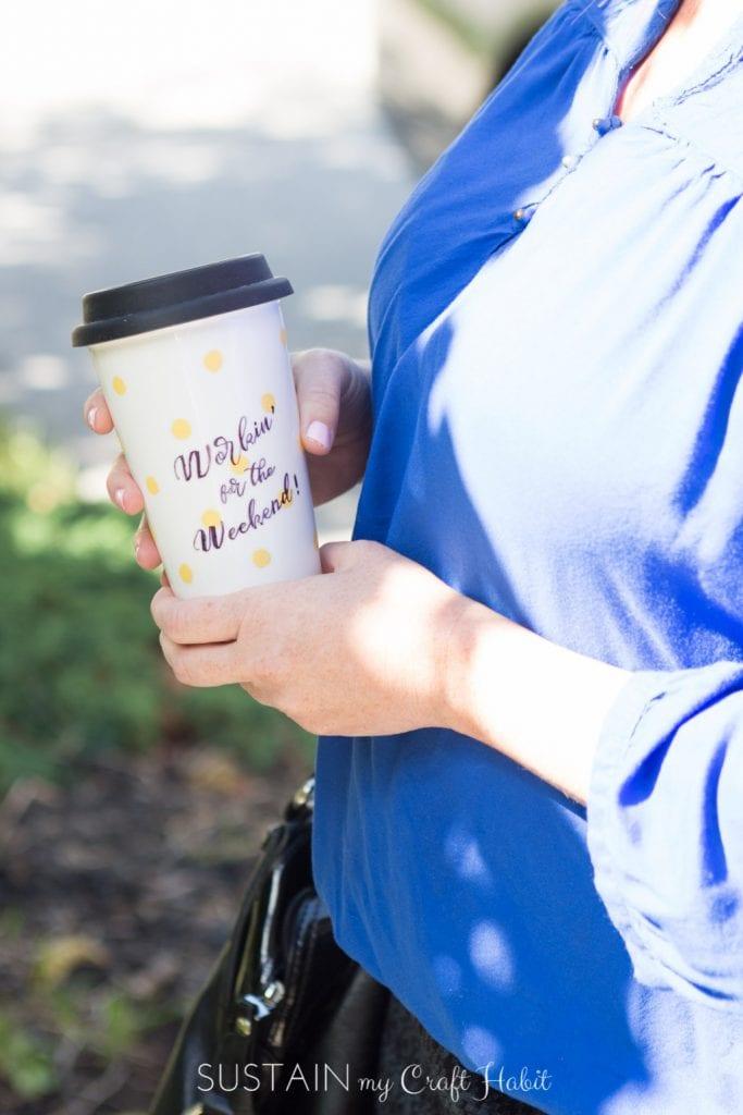 Upcycled coffee mug