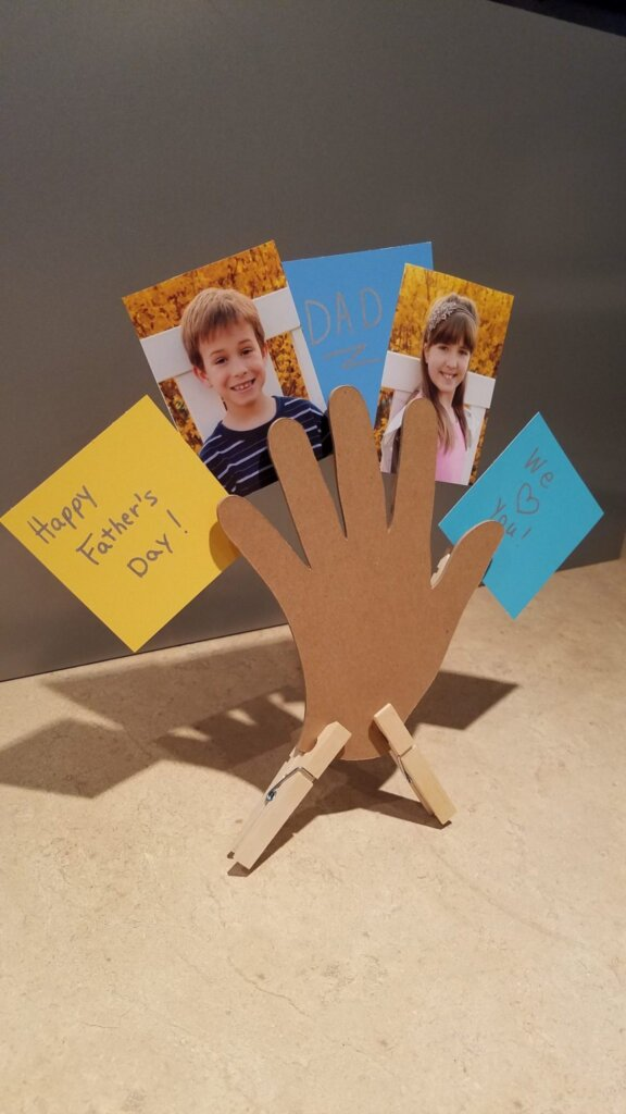 Clothespin hand project