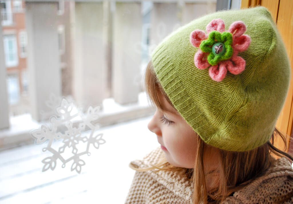 upcycled winter hat