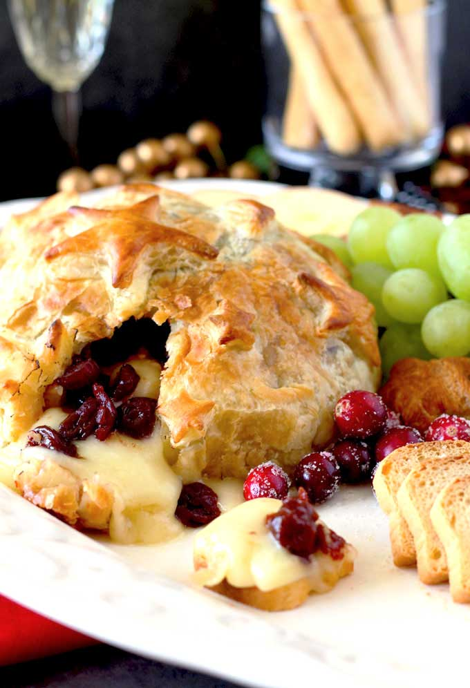 Brie with cranberries