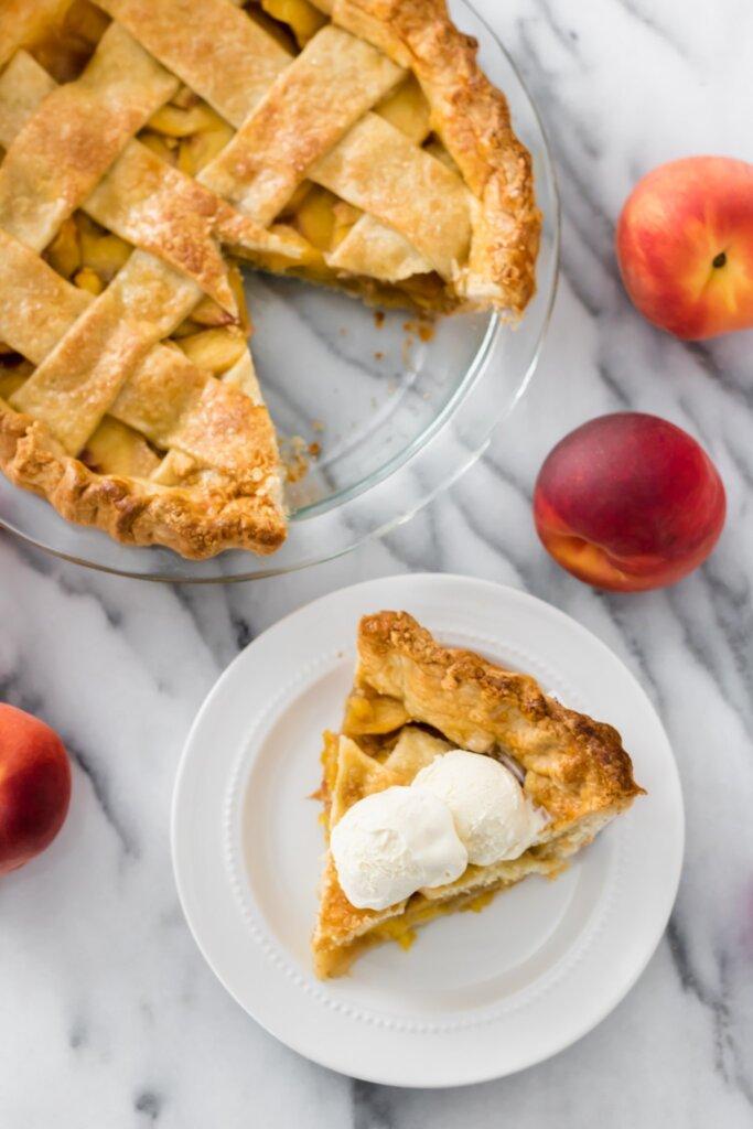 Gingered peach pie