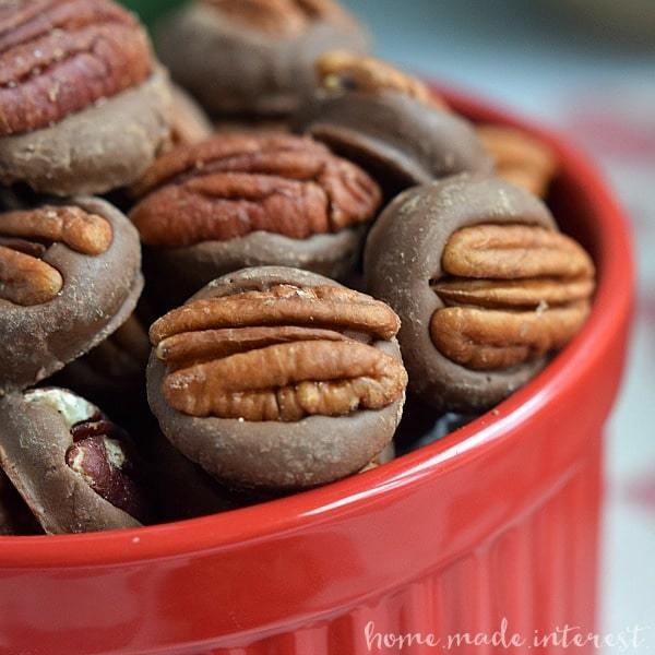Chocolate pecan bites