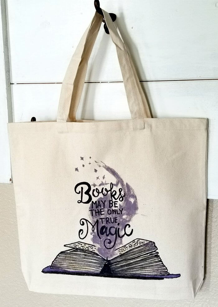 Sharpie tote bag