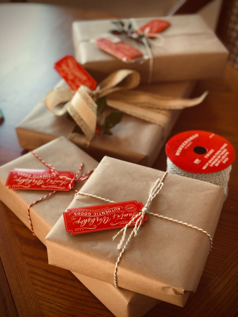 Gifts wrapped for teachers
