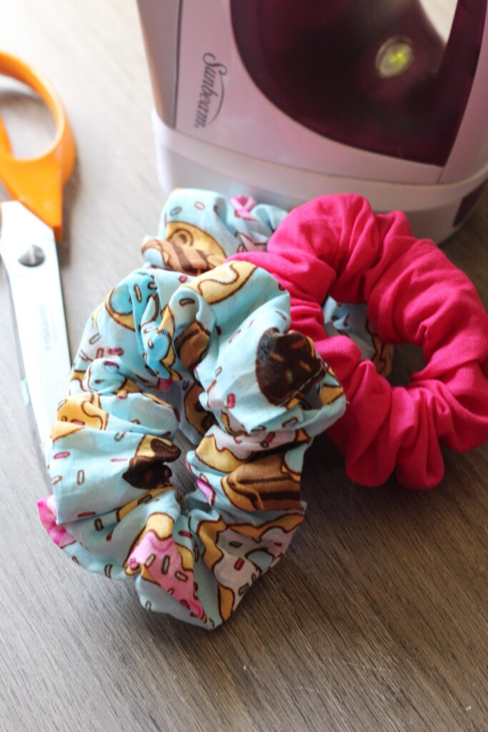 Homemade scrunchies
