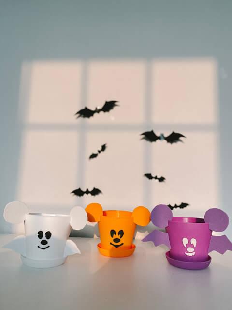 Mickey Halloween planters
