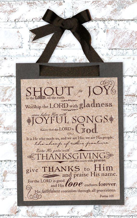 Psalm 100 print
