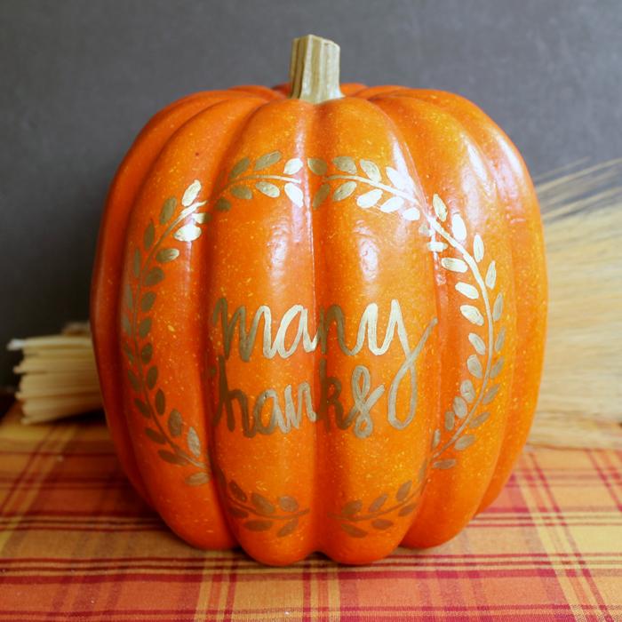 Thanksgiving pumpkin art