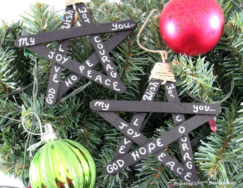 Blackboard star ornament
