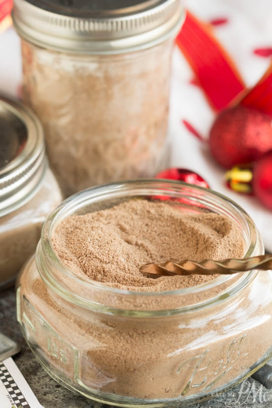 Chocolate gravy mix mason jar