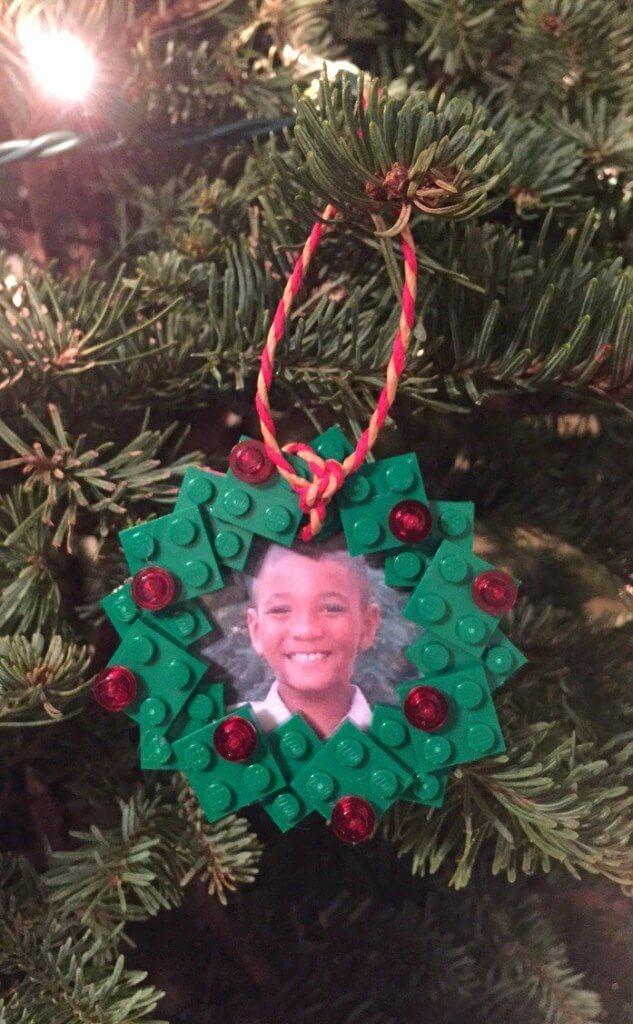 LEGO wreath photo