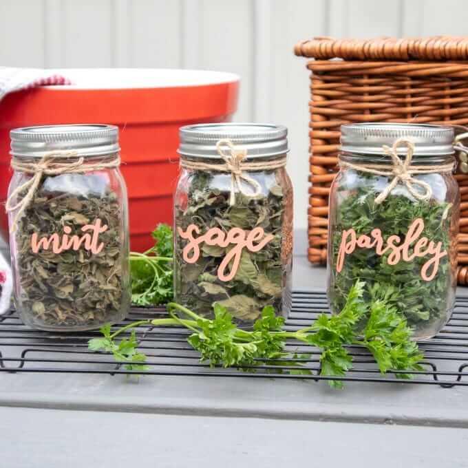 Dried herb jars