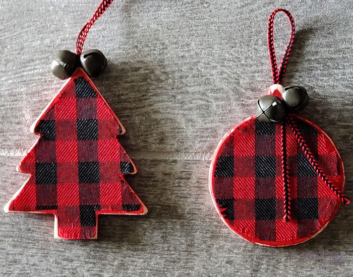 Buffalo checkered ornament