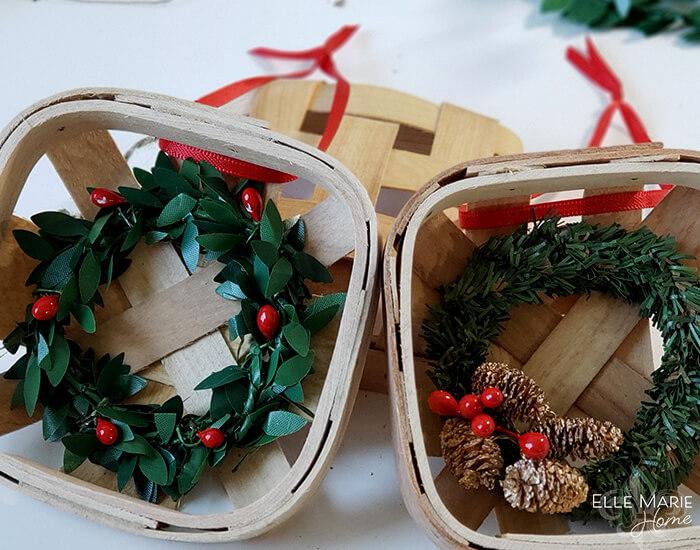 Tobacco basket Chrstmas ornament