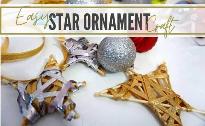 Ribbon star ornament