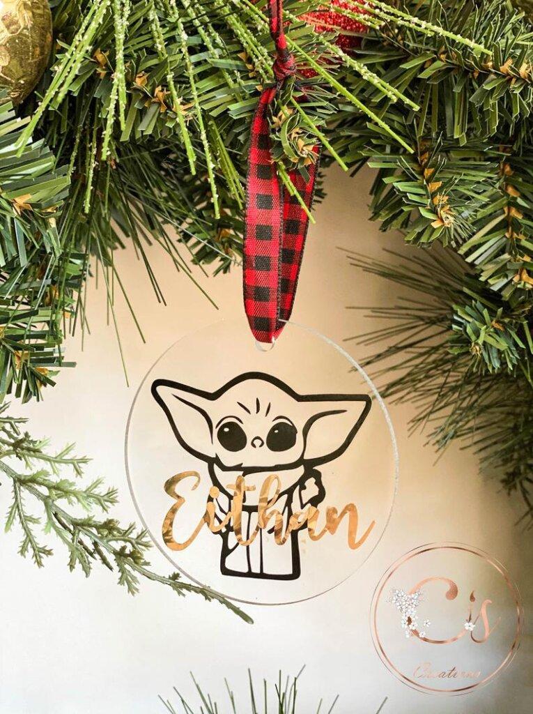 Acrylic Christmas ornament
