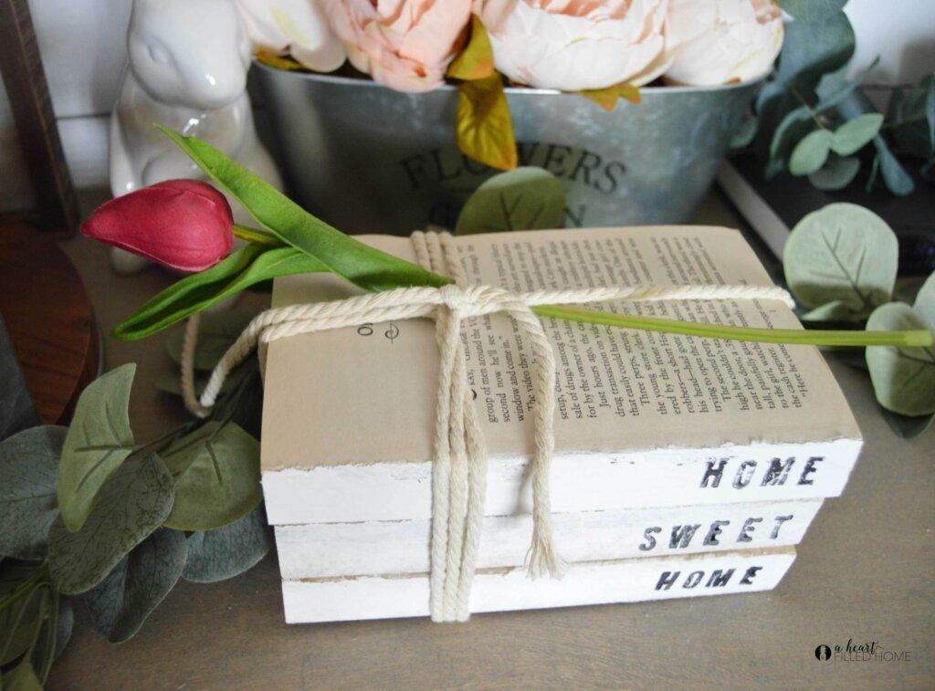 Book stack decor