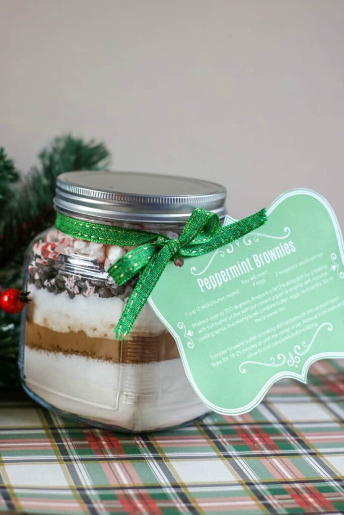 Christmas peppermint brownie mix