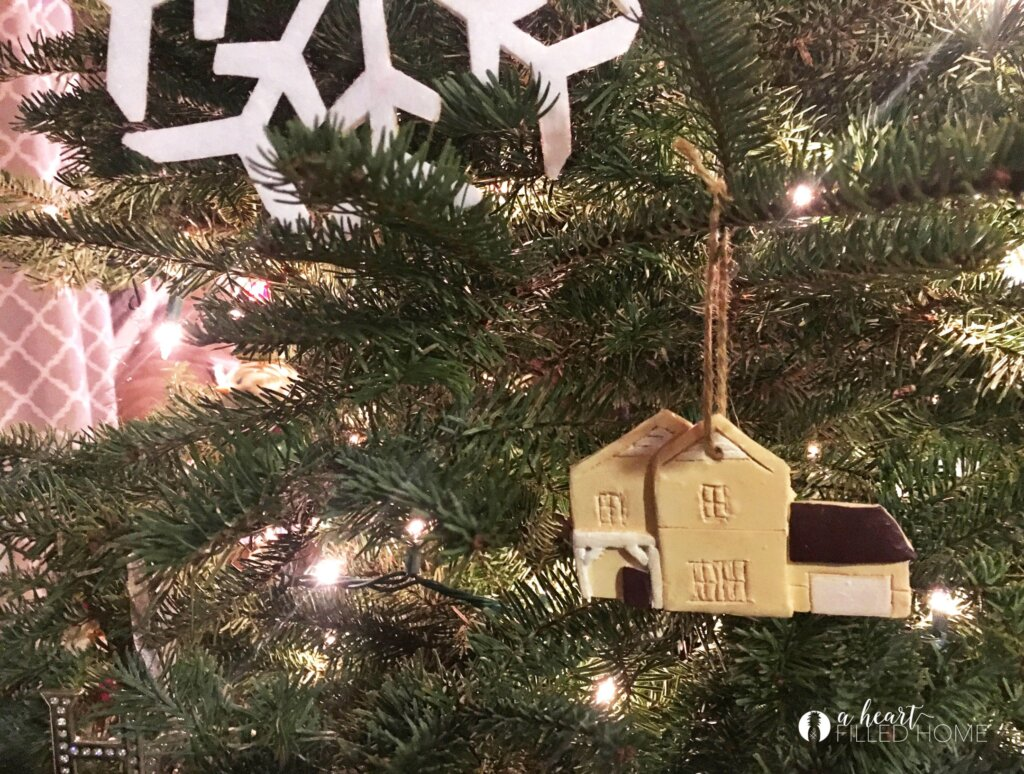 Clay house ornament