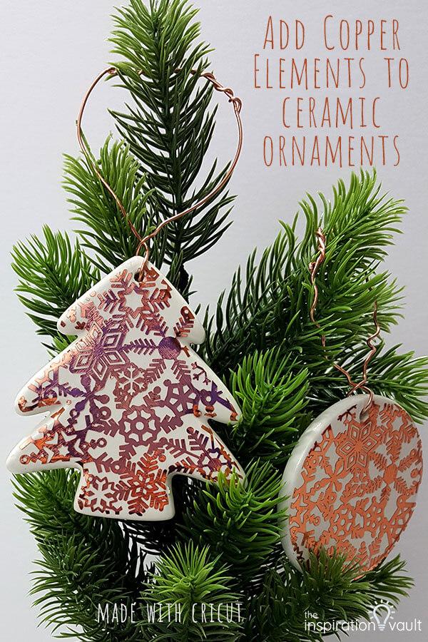 Copper ceramic ornament
