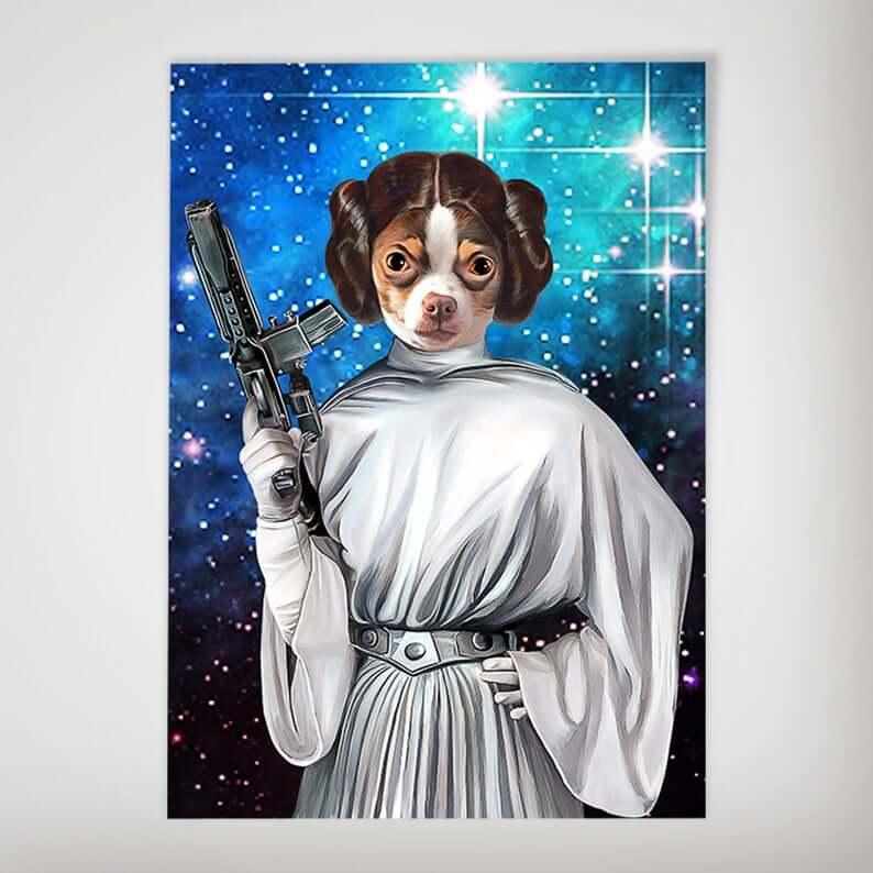 Dog leia poster