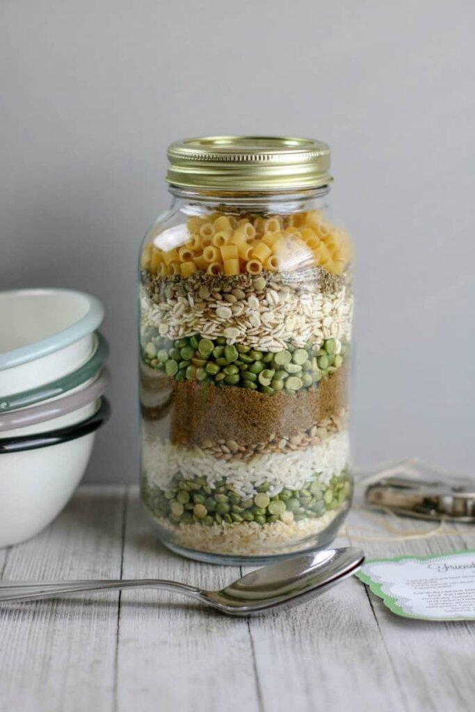 Friendship soup in a jar