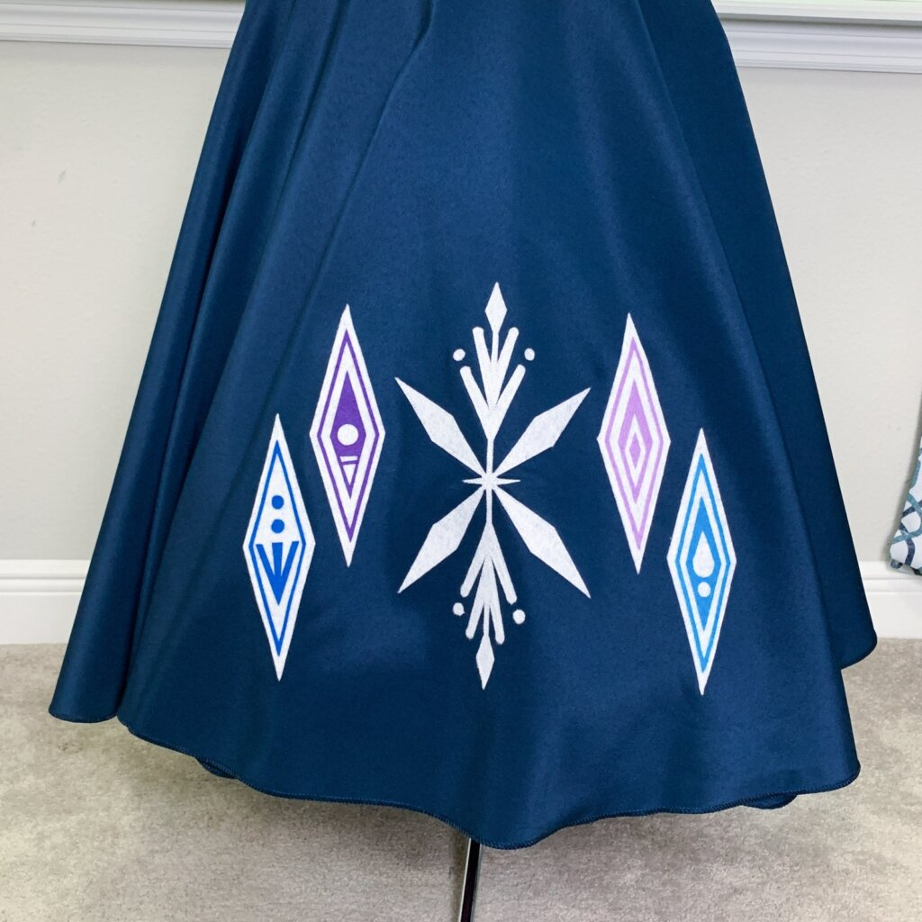 Poodle skirt from Frozen