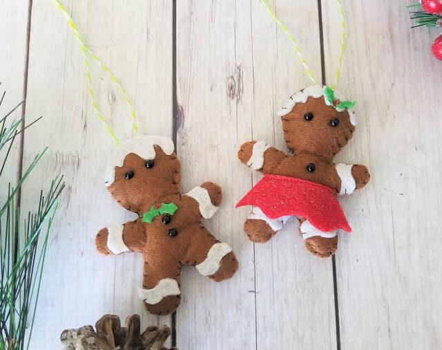 Gingerbread felt ornament
