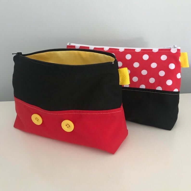 Handmade Mickey and Minnie bags