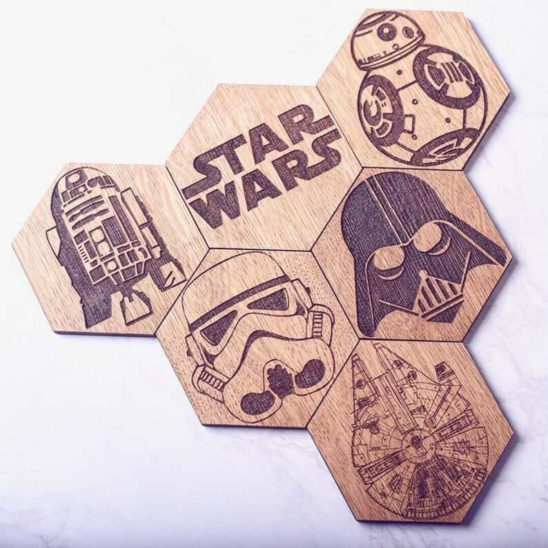 Star Wars hexagonal coasters
