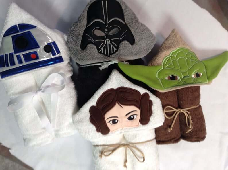 Star Wars hooded towels
