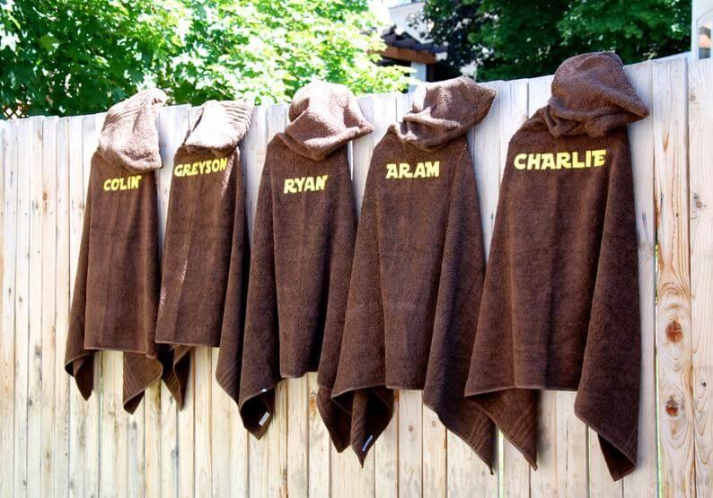 Jedi hooded towel