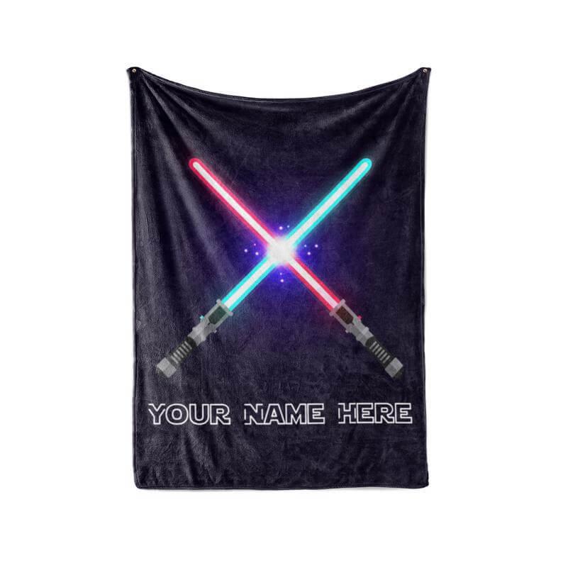 Lightsaber blanket