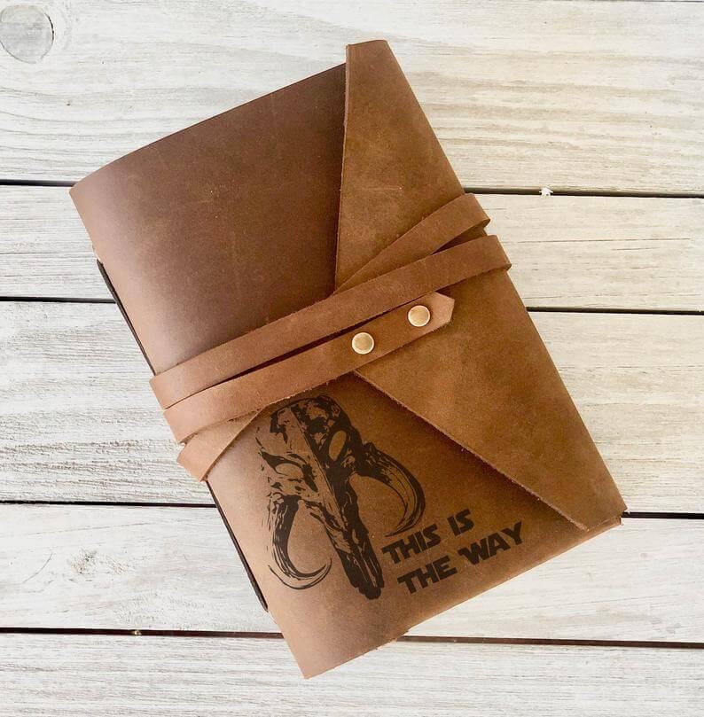 Mandalorian leather journal