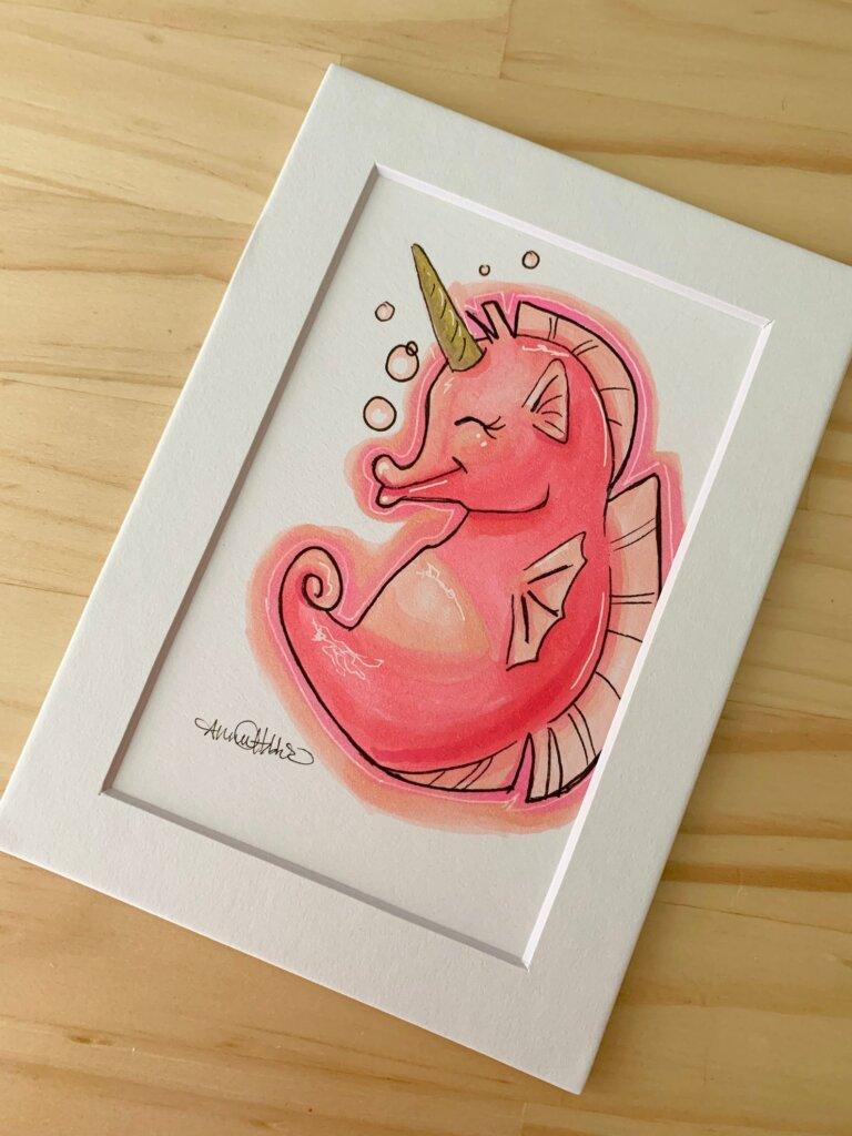 Seahorse market art
