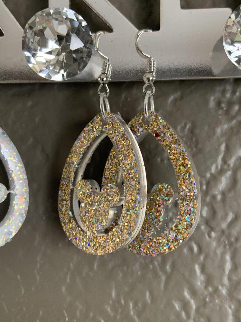 Mickey dangle earrings