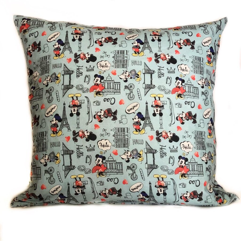 Mickey and Minnie travel pillow cover