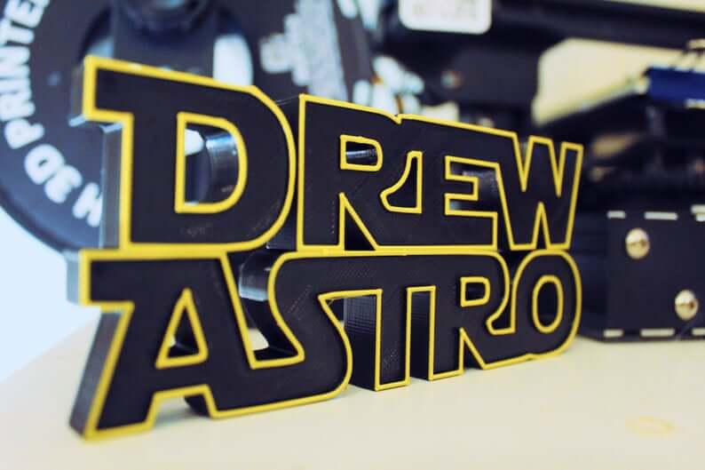 Personalized Star Wars nameplate