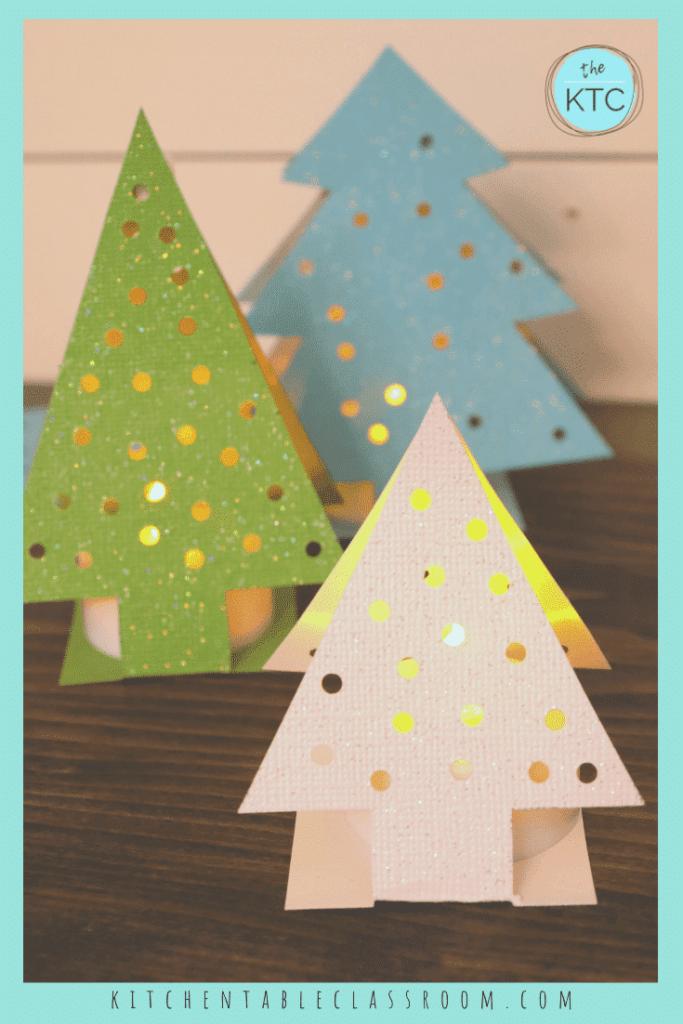 Paper Christmas tree ornaments