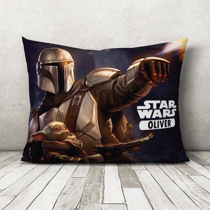 Star Wars personalized Mandalorian pillowcase