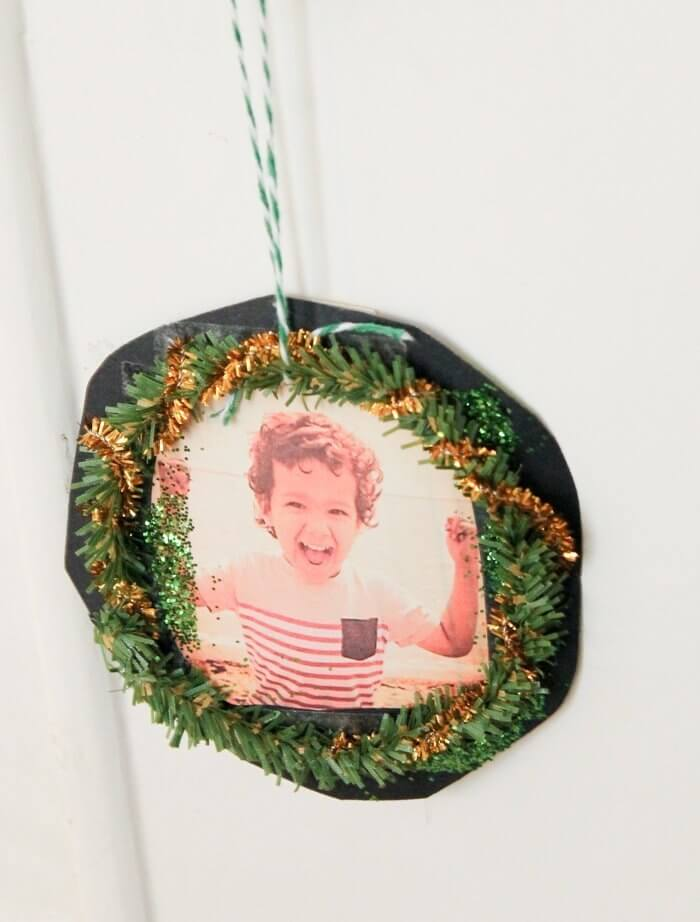 Photo wreath ornament