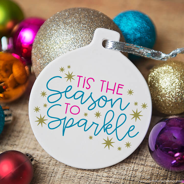 Season to sparkle ornament