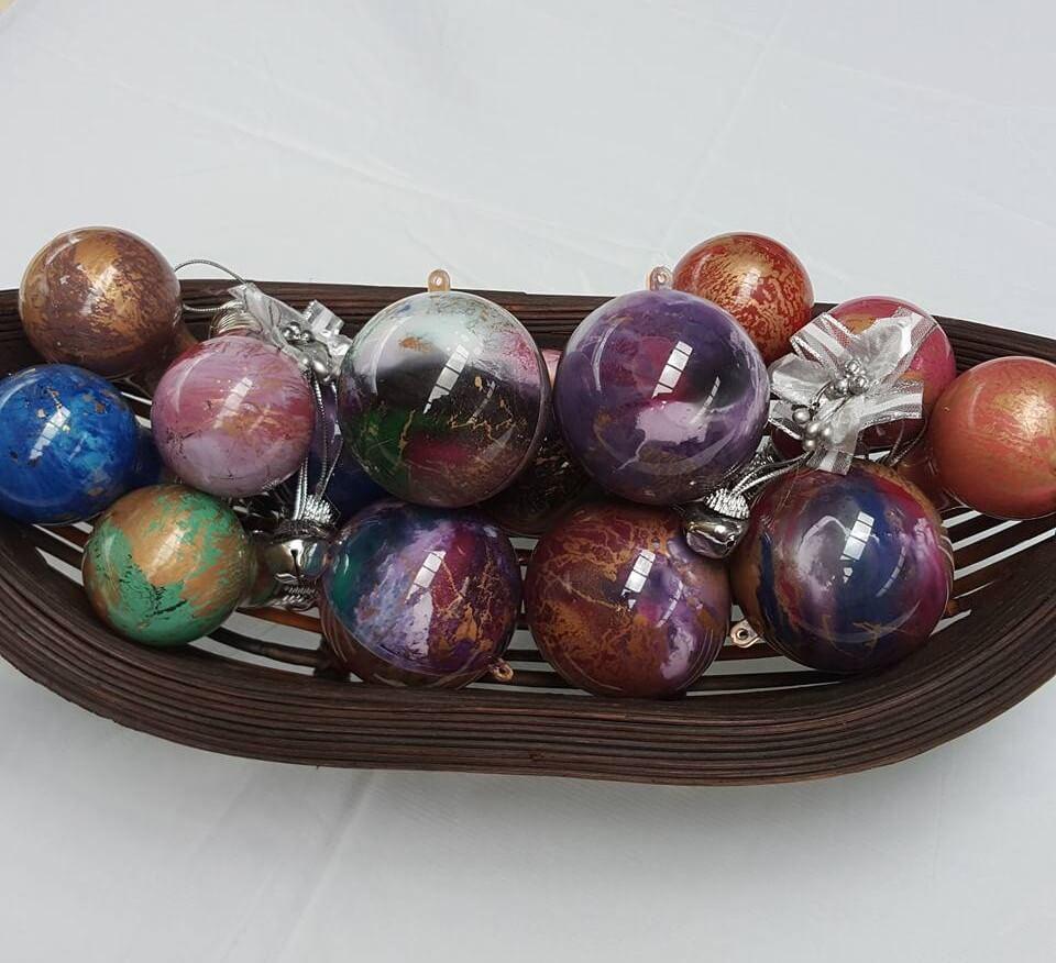 Unicorn spit ornaments