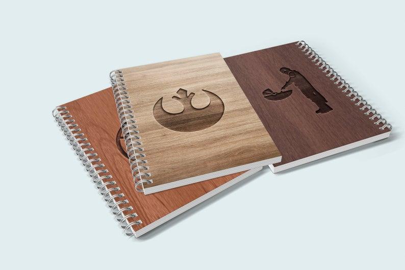 Personalized wood notebooks